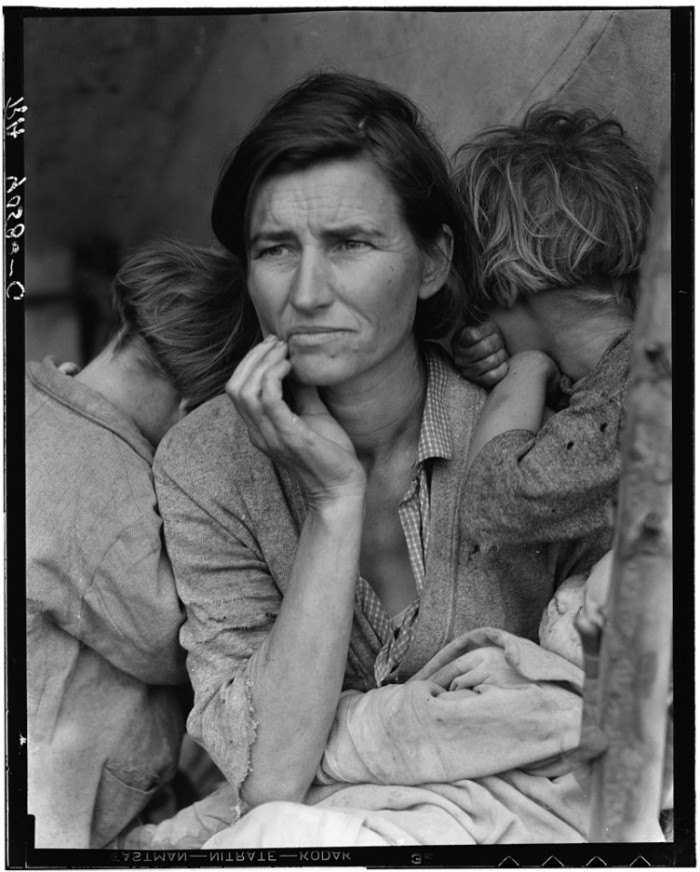 Dorothea lange. Migrant Mother, Nipomo, California,1936